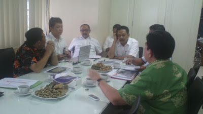 Konsultasi publik terkait jalan tol trans Sumatera di Kementerian PU-PERA, Rabu (3/6/2015)