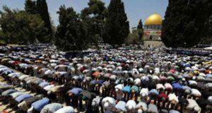 Shalat Jumat pertama awal Ramadhan 1436 H di Masjidil Aqsa, Jumat, 19 Juni 2015/ (dok mirajnews.com)