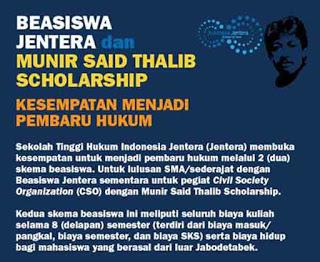 Beasiswa Jentera dan Munir Said Thalib Scholarship