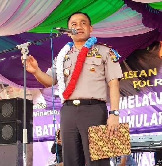 Irjen Heru Winarko ketika pamitan setelah melepas jabatan sebagai Kapolda Lampung, Juni 2015 lalu.