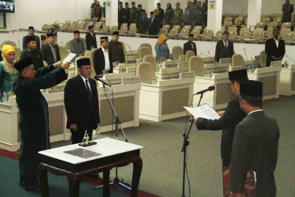 Murdiansyah Mulkan Dilantik Sebagai Anggota DPRD Lampung Gantikan Prio Budi Utomo