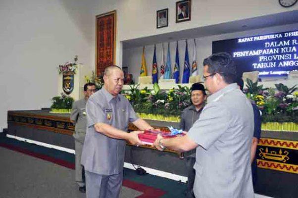 Penyampaian KUA-PPAS 2016, Pemprov Lampung Targetkan PAD 2016 Sebesar Rp2,432 triliun
