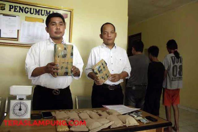 Barang bukti narkoba yang disita Polda Lampung dari pengedar narkoba jaringan Lapas Way Hui,Lampung Selatan (ilustrasi).