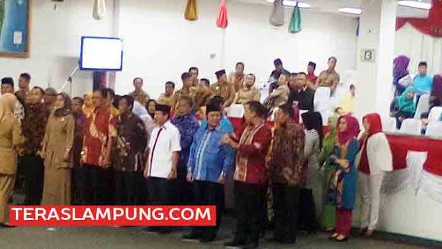 Gladi bersih pelantikan kepala daerah-wakil kepala daerah di DPRD Lampung, Selasa (16/2/2016).