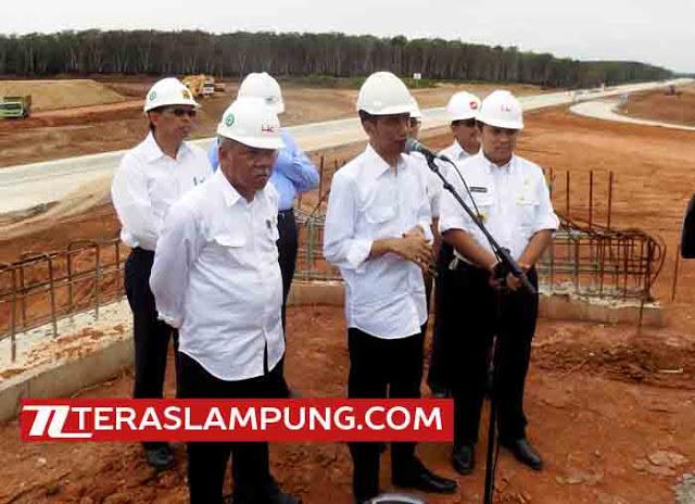 Soal Dana Pembebasan Lahan Proyek Jalan Tol, Jokowi Dikomplain Gubernur Lampung