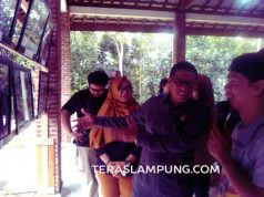 Pembukaan pameran foto HUT ke-22 Aliansi Jurnalis Independen (AJI) di Bandar Lampung