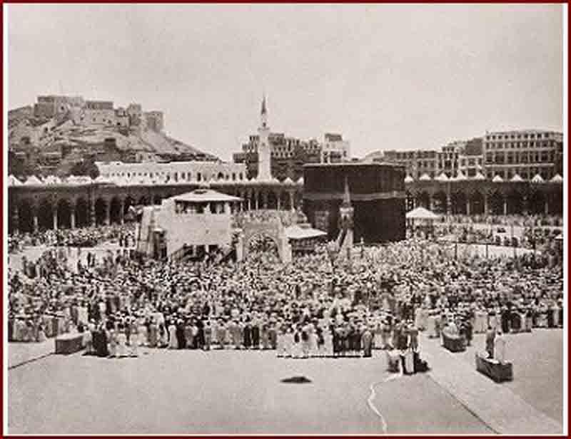 Kakbah di Mekkah pada tahun 1800-an (Foto: dok Tropen Museum)