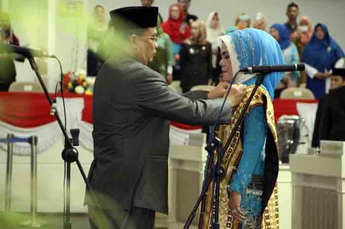 Pelantikan Marthalena sebagai anggota DPRD Lampung pengganti Toto Herwantoko.