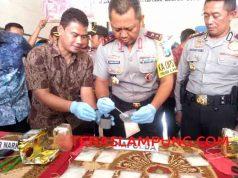 barang bukti sabu-sabu senilai Rp 3 miliar disita Polda Lampung