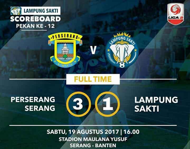 Lampung Sakti Ditekuk Perserang 3 – 1