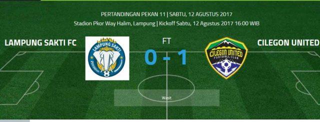 Kalah Lawan Cilegon United, Lampung Sakti Rawan Degradasi
