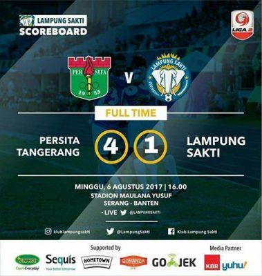 Persita Tangerang Hajar Lampung Sakti 4-1