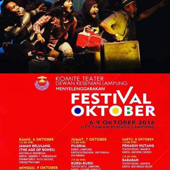 Ini Jadwal Festival Oktober Dewan Kesenian Lampung