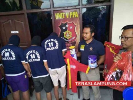 Tersangka pencuri di Alfamart Jl Soekarno Hatta Bandarlampung