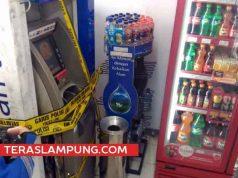 Kondisi ATM BCA di Jl. Pramuka Bandarlampung yang dibobol pencuri
