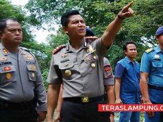 Kapolres Lampung Utara, AKBP Eka Mulyana (kanan)