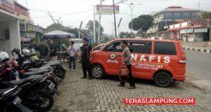 Olah TKP pembobolan ATM BCA di Affamart Jl Pramuka Bandarlampung