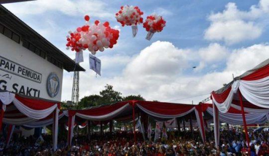Deklarasi Pilkada Damai di PKOR Way Halim Bandarlampung
