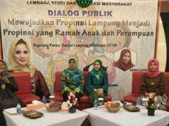 "diskusi publik dengan tema ""Mewujudkan Provinsi Lampung yang Ramah Anak dan Perempuan""."