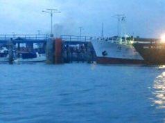 Kapal Win Long yang sandar di dermaga Kanwil DJBC Kepri (Foto: Batamnews)
