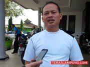 Alian Arsil, perwakilan pegawai Dinas PUPR Lampung Utara yang menuntut kejelasan nasib honor kegiatan mereka tahun 2017 yang masih belum dibayar