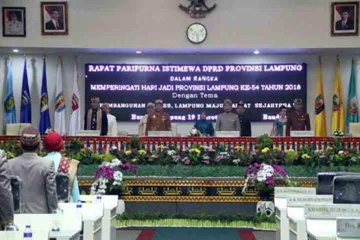 HUT Ke-54, Ketua DPRD: Kemajuan Lampung Pesat