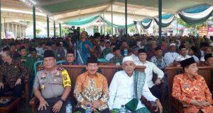 Herman HN menghadiri pembukaan Konferwil PWNU Lampung,Kamis (8/3/2018).