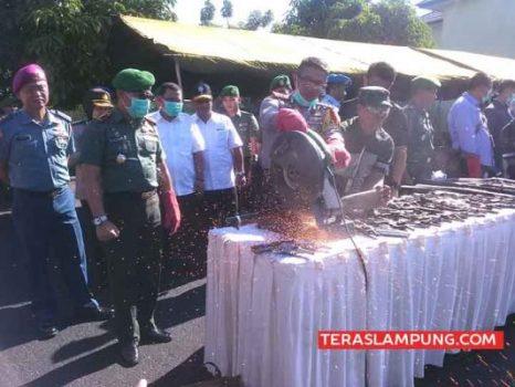 Di Tiga Kabupaten di Lampung Ini Ada Rumah Jadi Tempa Buat Senjata Api Rakitan