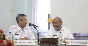 Pjs Gubernur Lampung Didik Suprayitno dan Kabag Kesbangpol Irwan Sihar Marpaung .