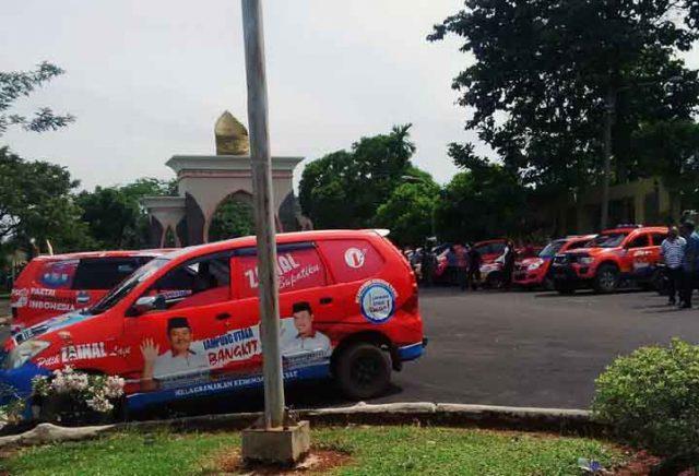 Puluhan mobil operasional pasangan Zaya.