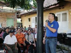 Ridho Ficardo bertemu warga Branti Raya,Natar,Lampung Selatan.
