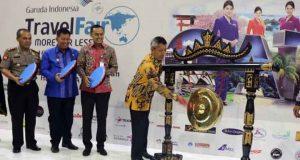 "Pejabat Sementara (Pjs) Gubernur Lampung Didik Suprayitno membuka ""Garuda Indonesia Travel Fair (GATF) Lampung 2018"" di Auditorium Mall Boemi Kedaton. Jumat (16/3/2018)."