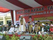 Tablig akbar di Mapolda Lampung.