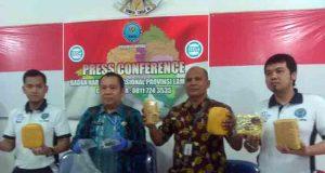 Barang bukti 6 kg sabu-sabu disita BNN Lampung.