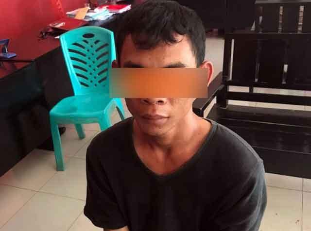 Beni Setiawan yang kerap beraksi di Kecamatan Bekri dan Bangun Rejo saat diamankan Petugas Satuan Reserse Kriminal Polres Lampung Tengah. (Foto Humas Polres Lamteng)