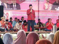Herman HN dalam kampanyenya di Lapangan Merdeka, Sumber Rejeki, Sekampung (25/4/2018).