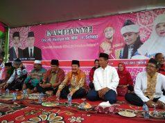 Herman HN kampanye di Lapangan Ampera, Purwodadi, Kecamatan Gisting,Kabupaten Tanggamus.