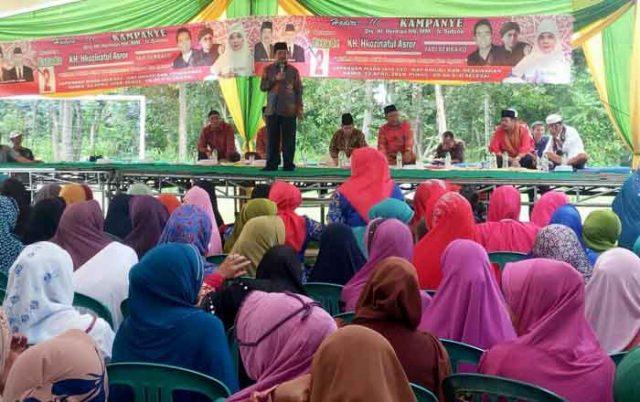Herman HN kampanye di Way Rilau, Pesawaran