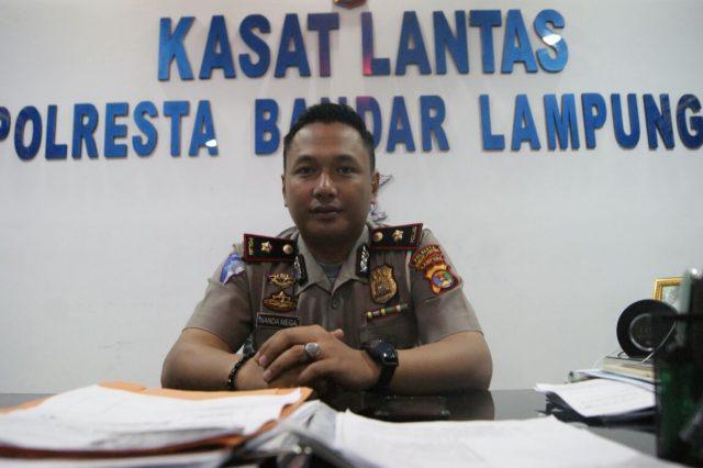 Kasat Lantas Polresta Bandarlampung, Kompol Syauzarnanda Mega