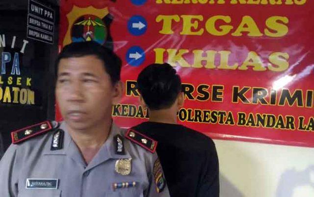 Kapolsekta Kedaton, Kompol Bismark saat ekspos ungkap kasus buronan pelaku penjambretan