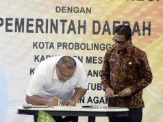 Penandatanganan MoU Inovasi Daerah LAN RI dengan Pemkab Mesuji.