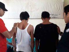 Rosidi (43) dan Sugiarno (37), tersangka pencurian di RSUD Batin Mengunang Kota Agung yang diamankan petugas Unit Reskrim Polsek Kota Agung, Tanggamus. (foto Dok. Polsek Kota Agung)