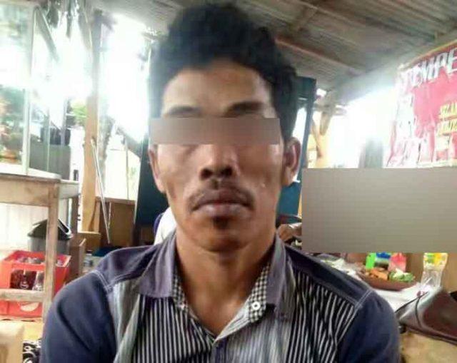 Tersangka Yanto buronan percobaan pembunuhan korban Silviana yang ditangkap Tekab 308 Polres Lampung Selatan