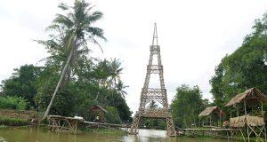 Embung di DEsaTanjung Kesuma Kecamatan Purbolinggo kini menjadi destinasi wisata desa.