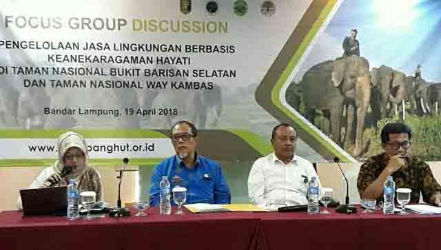 Dishut dan KLHK Bedah Pengelolaan Jasa Lingkungan di TNNBS dan TNWK
