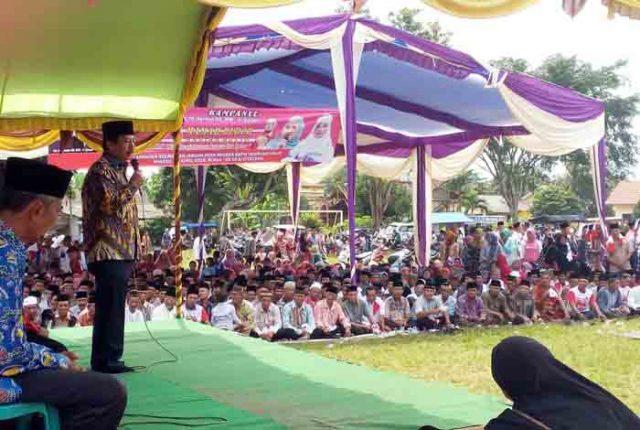 Herman HN berkampanye di Jabung, Lampung Timur,Minggu (15/4/2018).