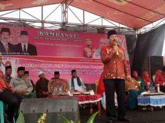 Herman HN kampanye di i Lapangan Rejo Sari, Seputih Mataram, Lampung Tengah.