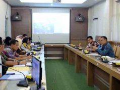 Rapat Pengembangan Pelabuhan Sebalang, di Ruang Rapat Bappeda Provinsi Lampung, Jumat (20/4/2018).
