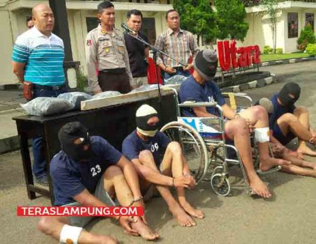 Lima Perampok di Rumah Bendahara NU Sungkai Utara Ditangkap Polisi