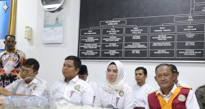 Audiensi pengurus PPNI Lampung dengan pejabat teras Pemprov Lampung,Kamis (26/4/2018).